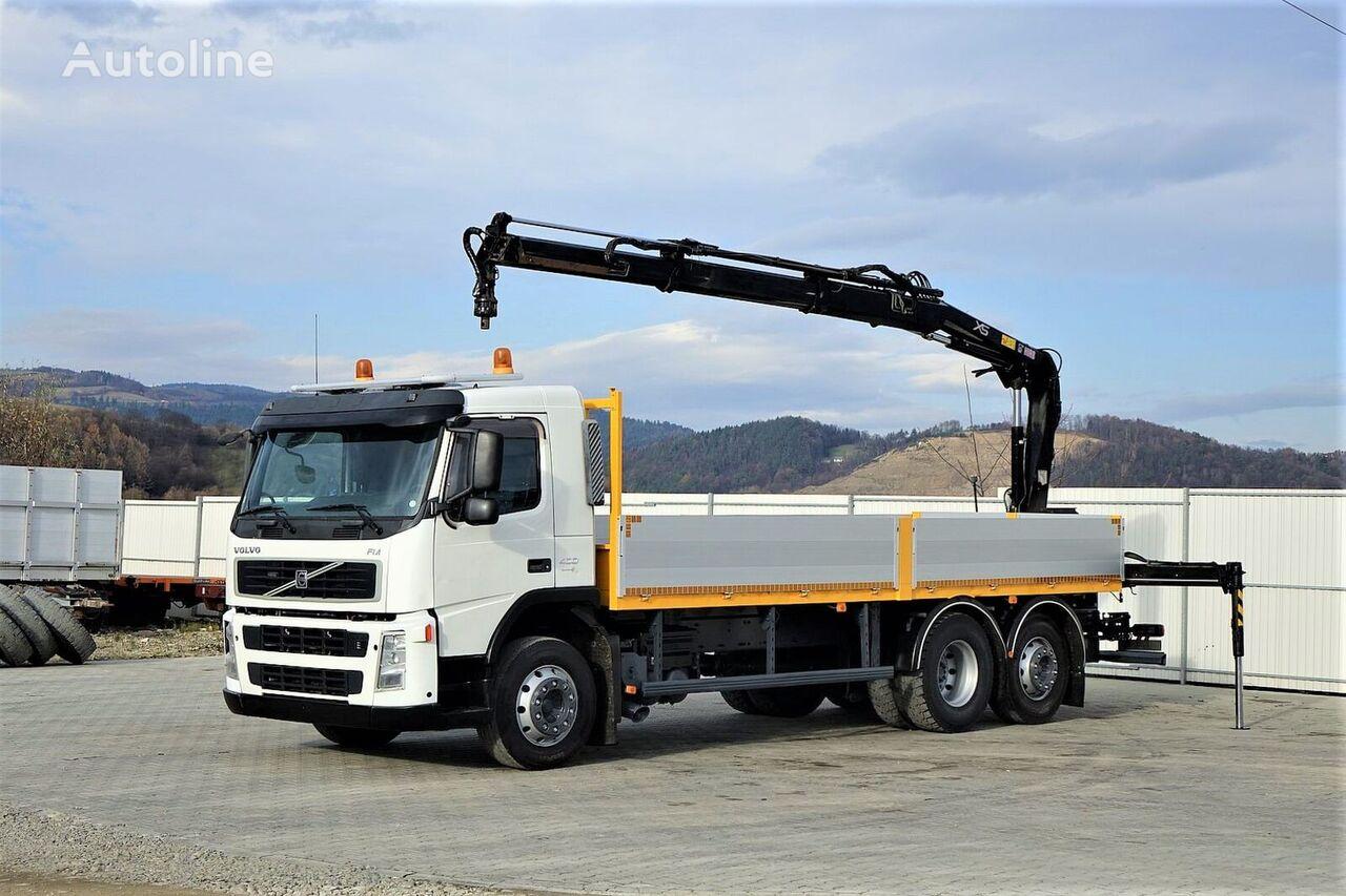 VOLVO FM 400 Pritsche 6,80m +Kran/FUNK 6x2 Topzustand! flatbed truck