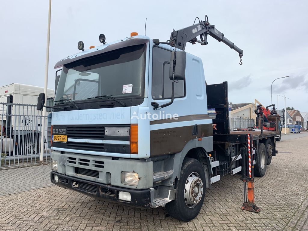 DAF 85.400 6x2 Manual Gearbox With Atlas 3500 Crane flatbed truck