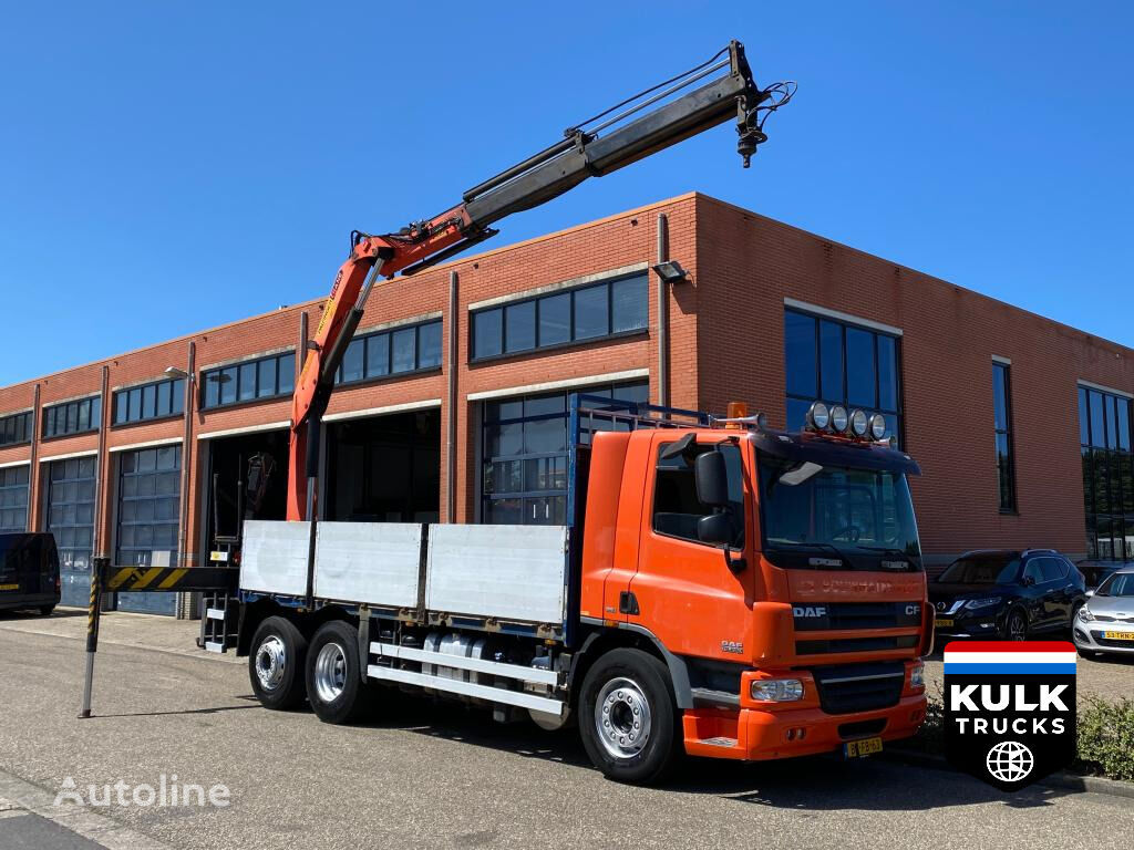 DAF CF 75 6X2*4 / PALFINGER 15Ton NL TRUCK / TOP CONDITION flatbed truck