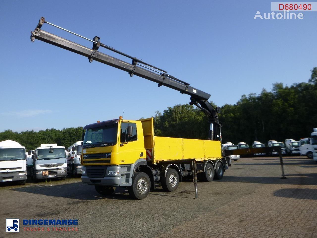 DAF CF 85.480 8x4 + Hiab 700 EP-4 Hipro flatbed truck