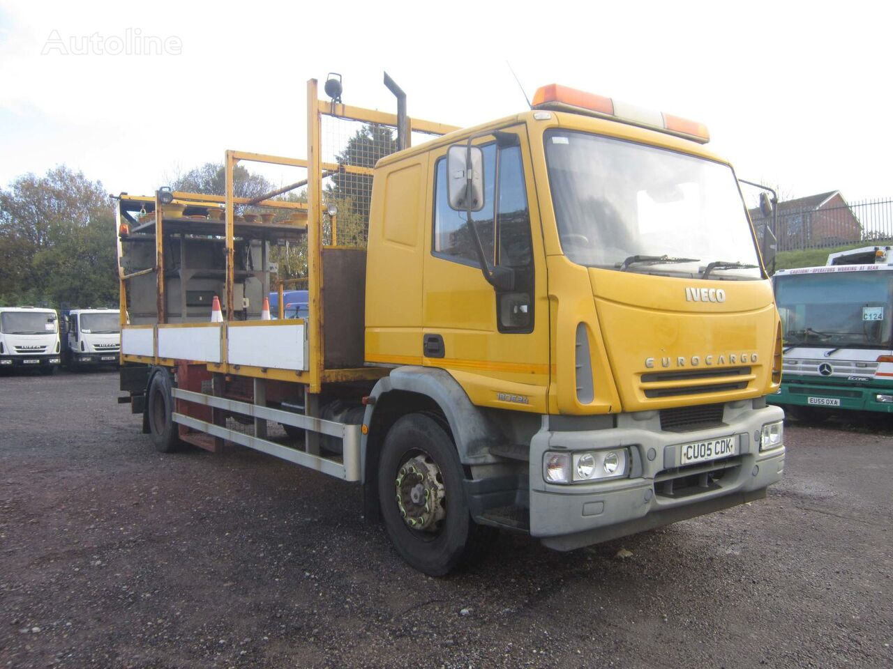 IVECO EURO CARGO 180E24 4X2 18TON SLEEPER CAB CRASH CUSHION flatbed truck
