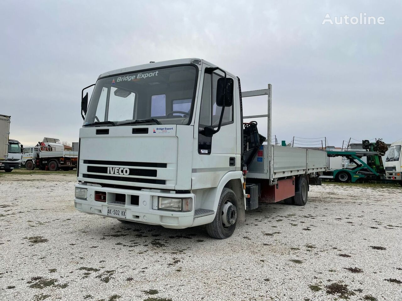 IVECO EUROCARGO 65C14 gru Copma flatbed truck