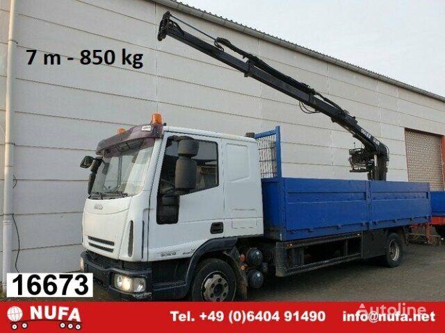 IVECO EuroCargo 80E 18 4x2 Euro Cargo ML 80 E 18, Hiab Kran 060-2 flatbed truck