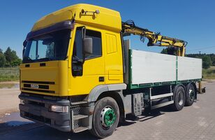 IVECO EuroTech 240E38 6x2 Crane ATLAS 130.1 (240E42) 6 cyl./ZF-Gearbox flatbed truck