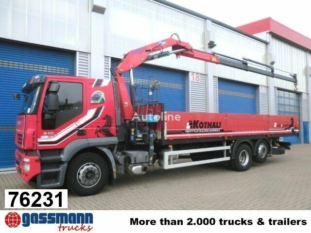 IVECO Stralis 310 mit Kran Copma 150.3 Klima/NSW flatbed truck