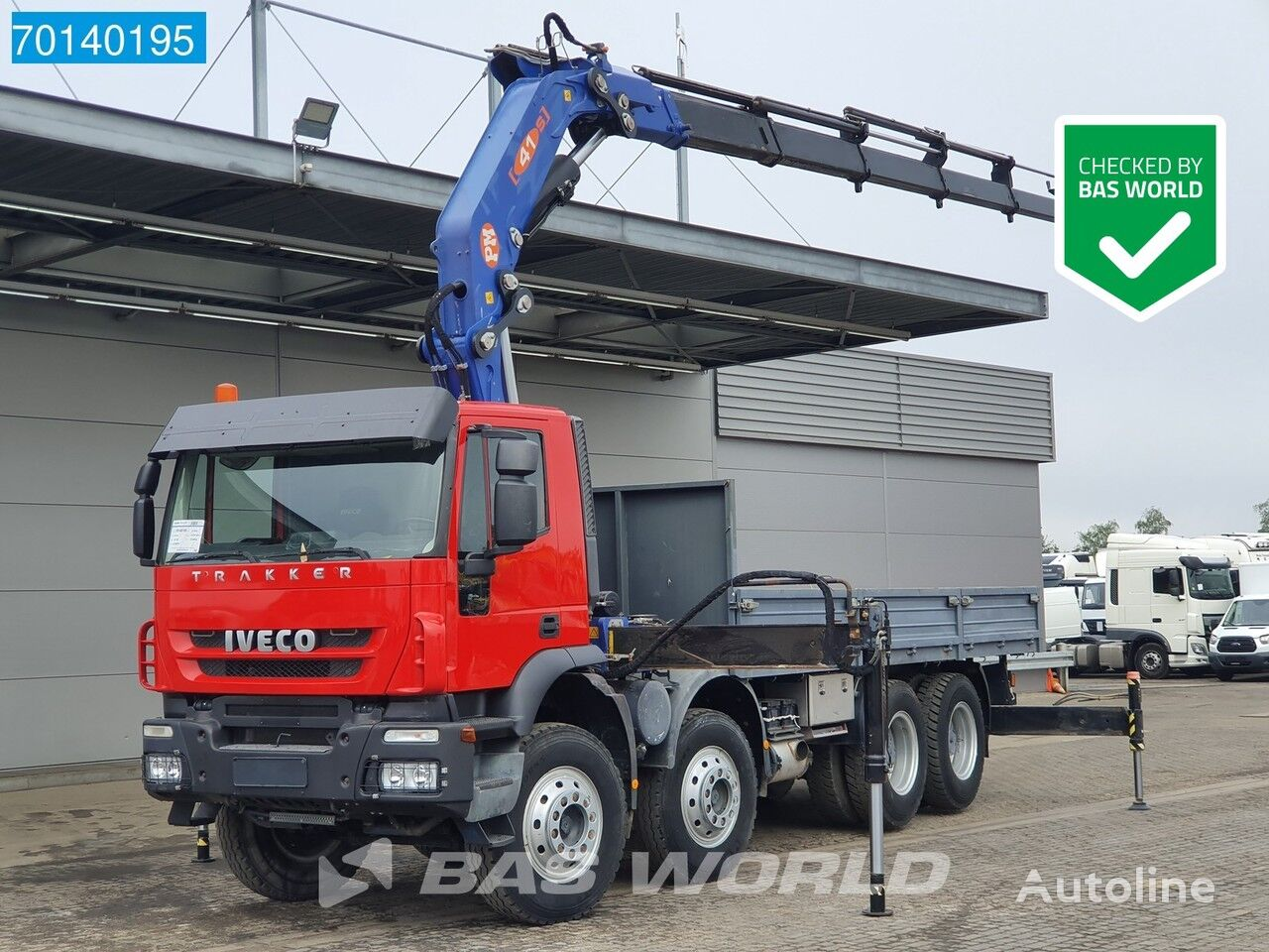 IVECO Trakker 410 8X4 ADT42 Manual Big-Axle Steelsuspension Euro 3 PM flatbed truck