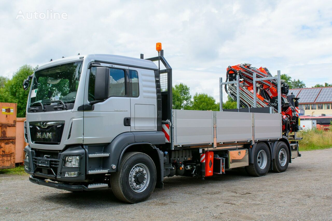 new MAN flatbed truck