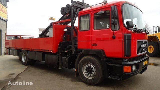 MAN 19.262 FL/LL-1 / 4x2 / Kraan - Crane HIAB260 flatbed truck
