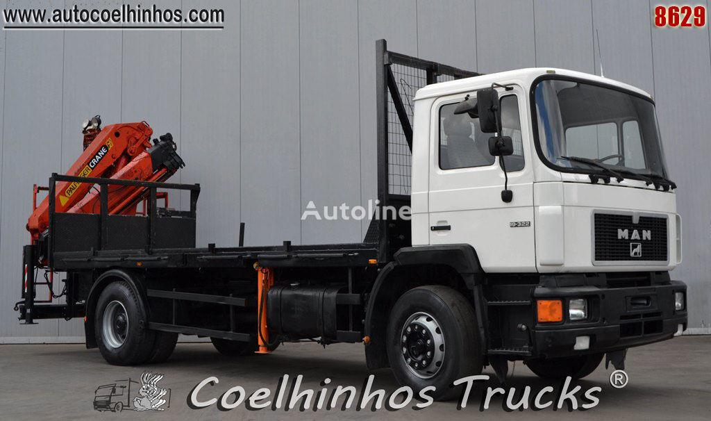 MAN 19.322 flatbed truck