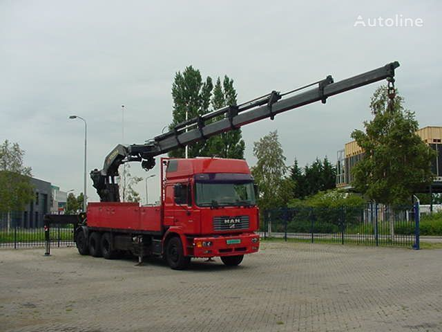 MAN 26.464 F 2000 EURO 2 PALFINGER PK 75.000 flatbed truck