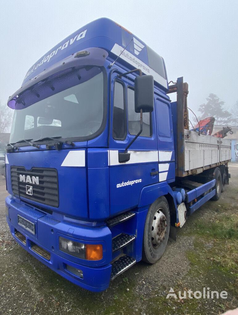 MAN 26.464 + Fassi F110 flatbed truck