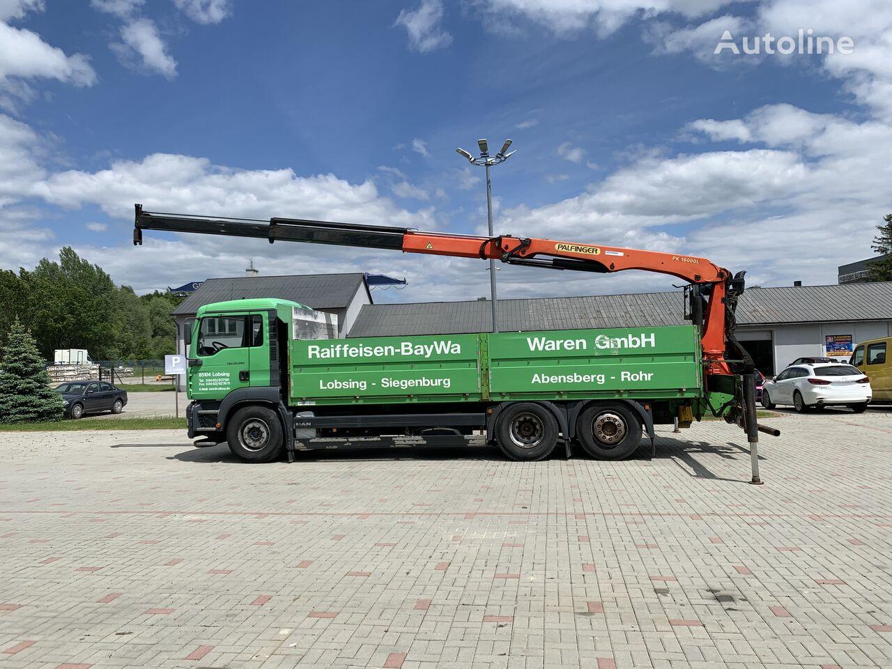 MAN TGA 26.350 Palfinger 16000L TOP flatbed truck