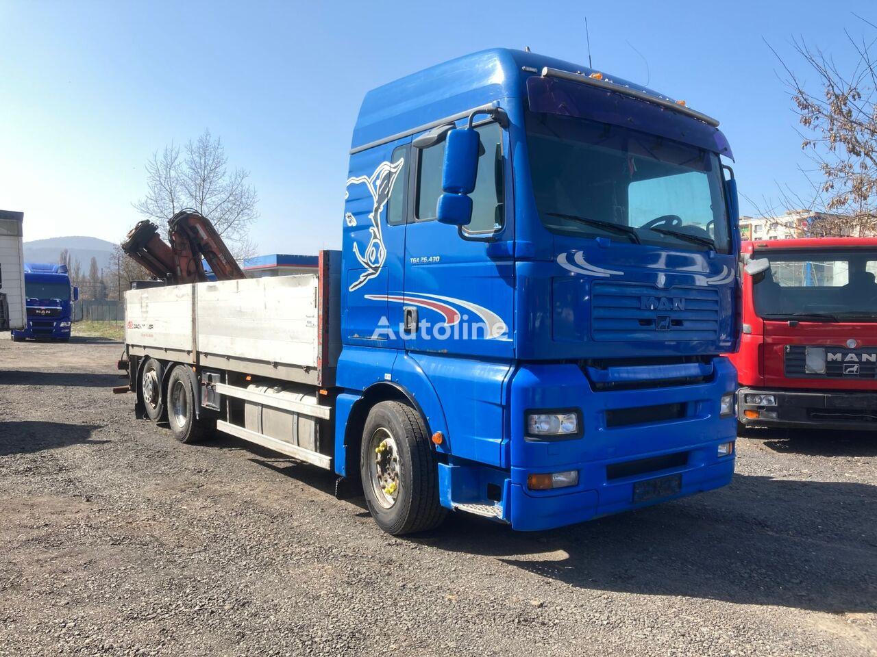 MAN TGA 26.430 flatbed truck