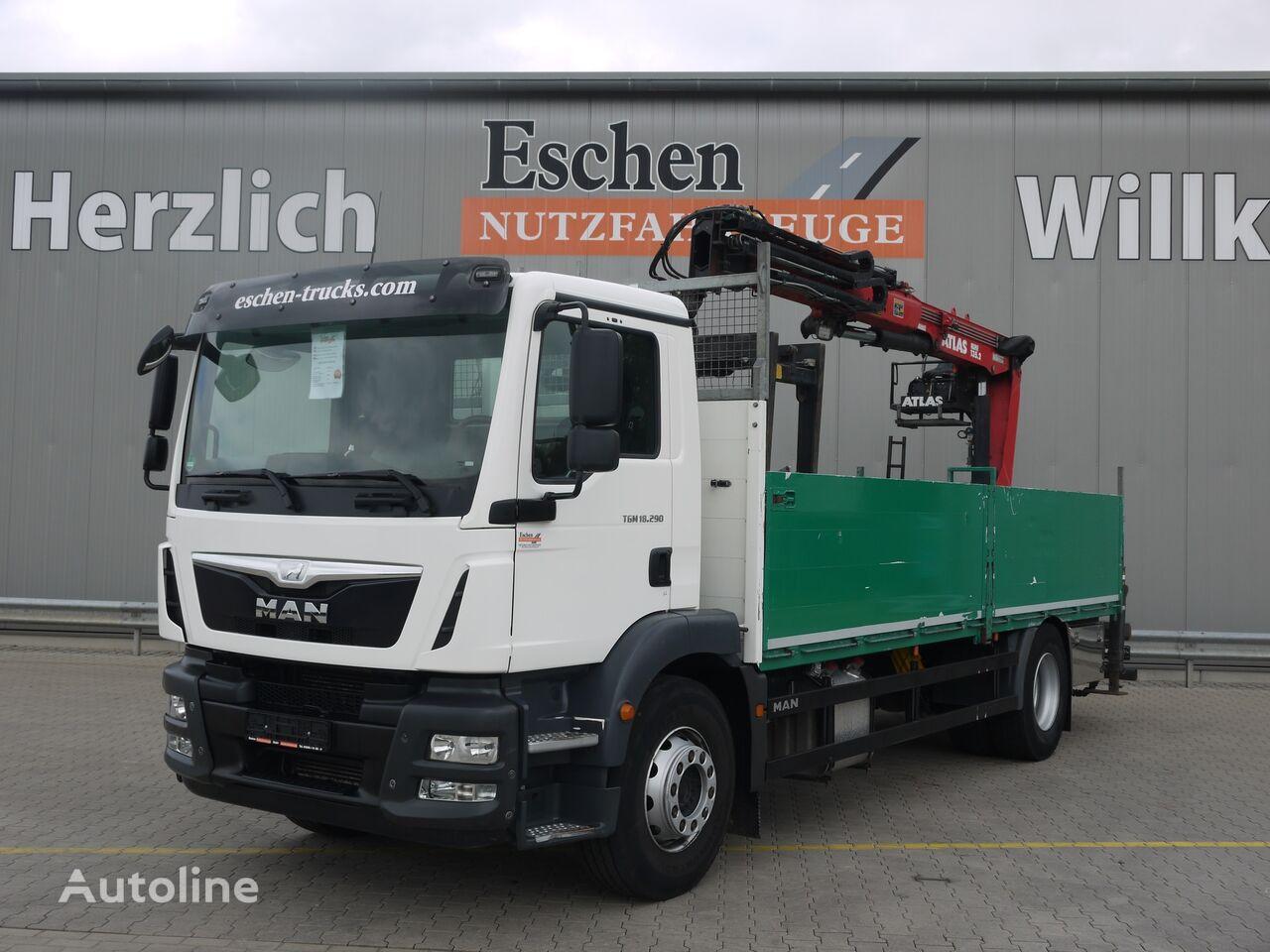 MAN TGM 18.290BL, Atlas 135.2 Kran, Automatik, Euro 6 flatbed truck
