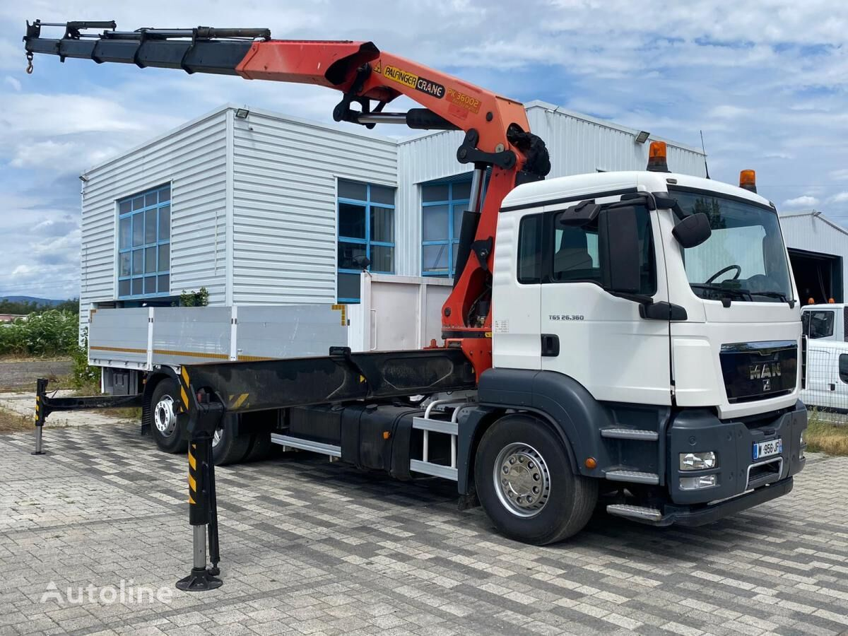 MAN TGS 26.360 flatbed truck