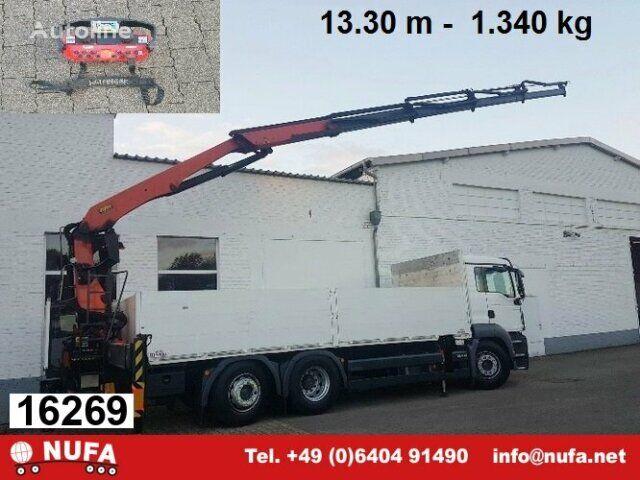 MAN TGS 26.360 LL flatbed truck