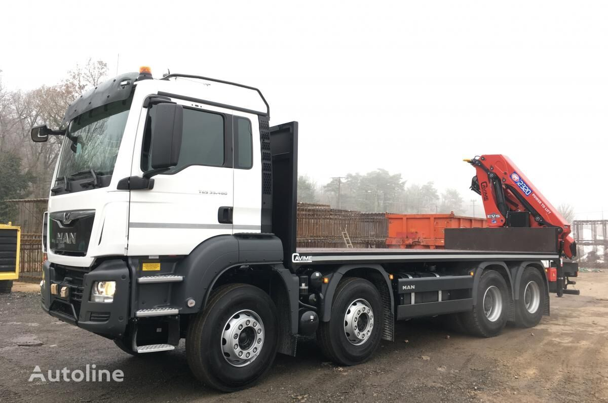 new MAN TGS 35.460 flatbed truck