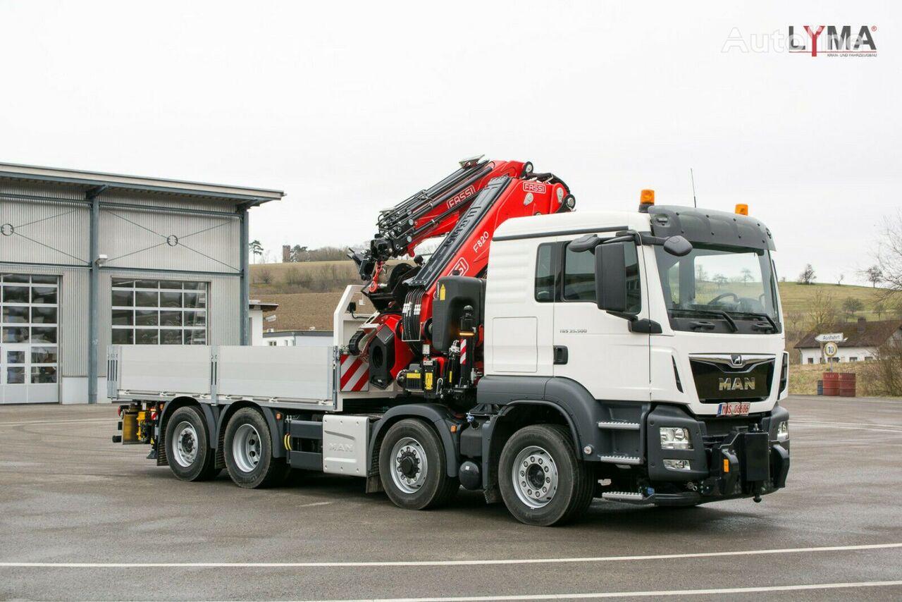 new MAN TGS 35.510 HYDRO - VERFÜGBAR ab 30.08.20 !!! flatbed truck