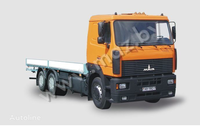 MAZ 6312 A5 flatbed truck