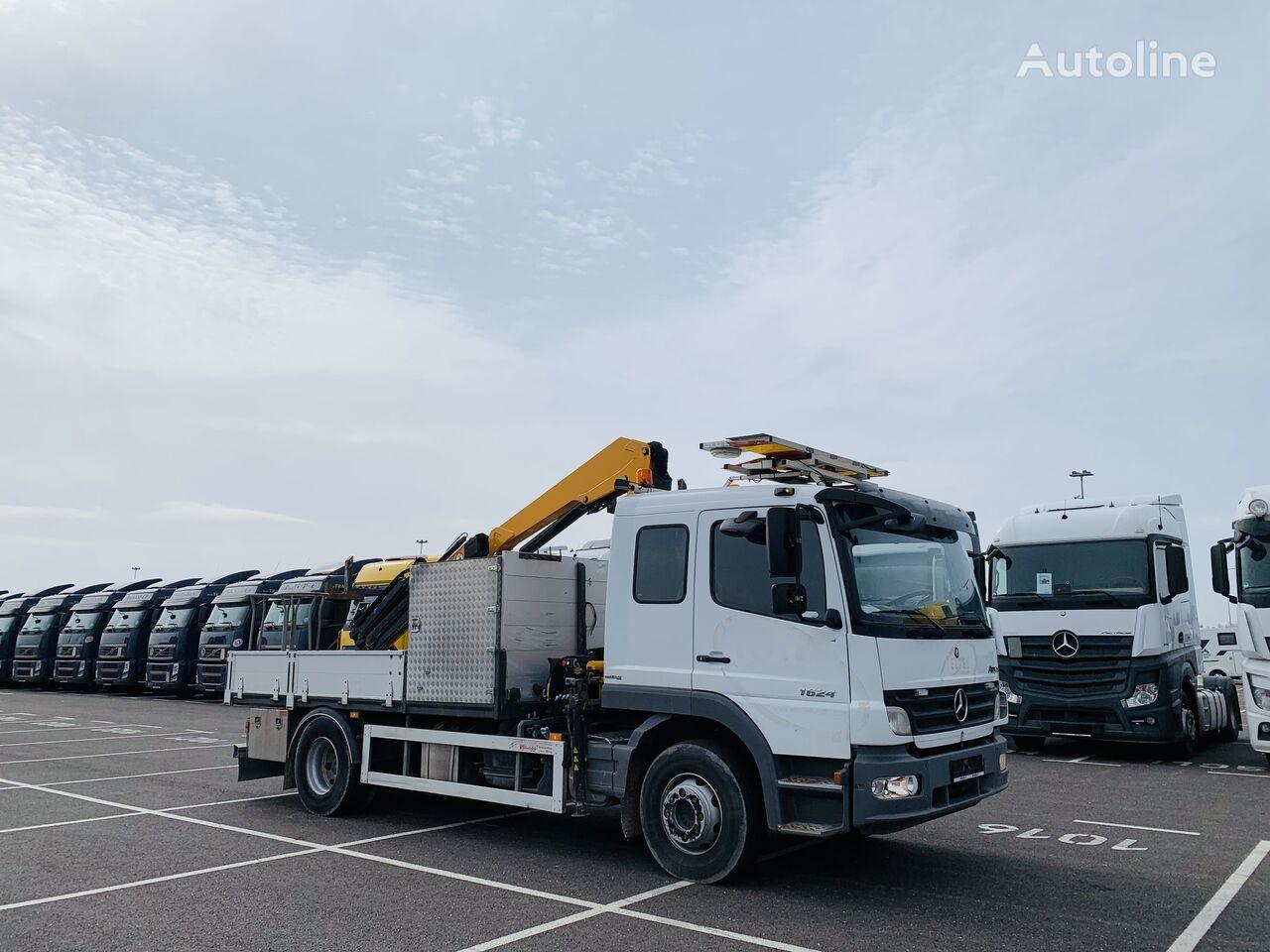 MERCEDES-BENZ 1624 L Atego su KRANU flatbed truck