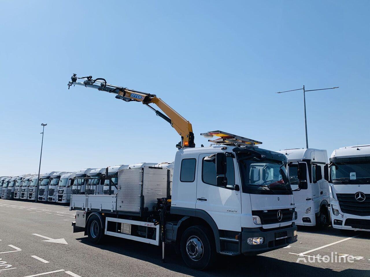 MERCEDES-BENZ 1624L Atego su KRANU flatbed truck