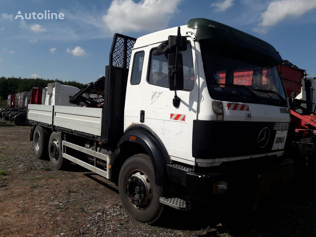 MERCEDES-BENZ 2531 SK, MANUAL V6 TURBO flatbed truck