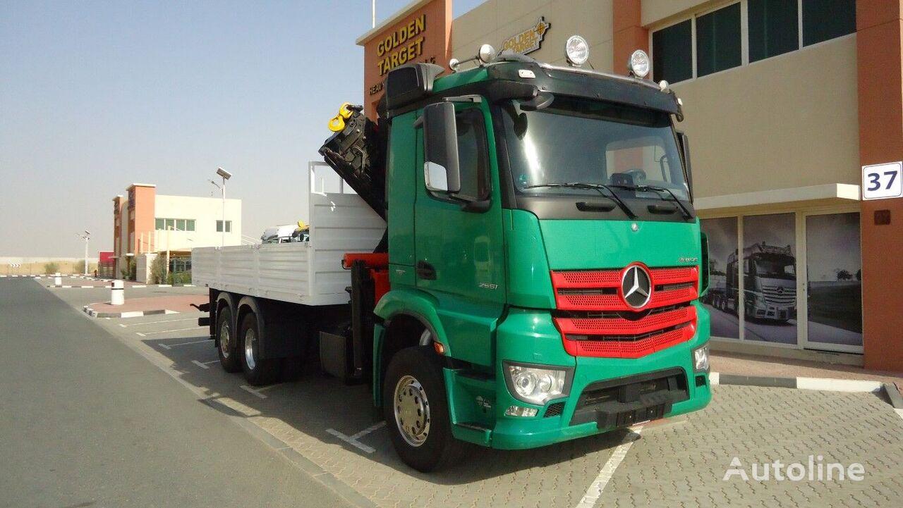 MERCEDES-BENZ 2651 6x2 PALFINGER 330002 Crane 2016 flatbed truck