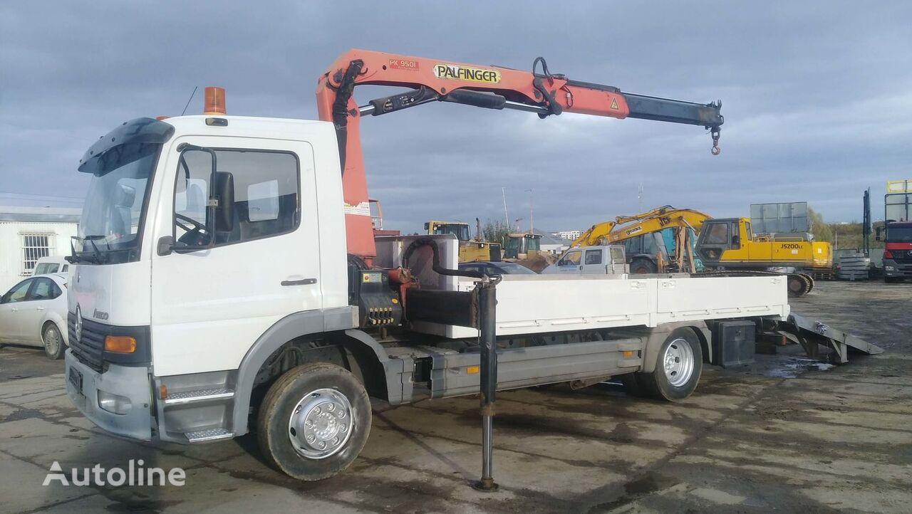 MERCEDES-BENZ ATEGO 1225 + HDS flatbed truck
