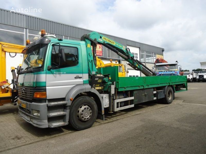 MERCEDES-BENZ ATEGO 1828L + Crane Palfinger PK11001 A flatbed truck