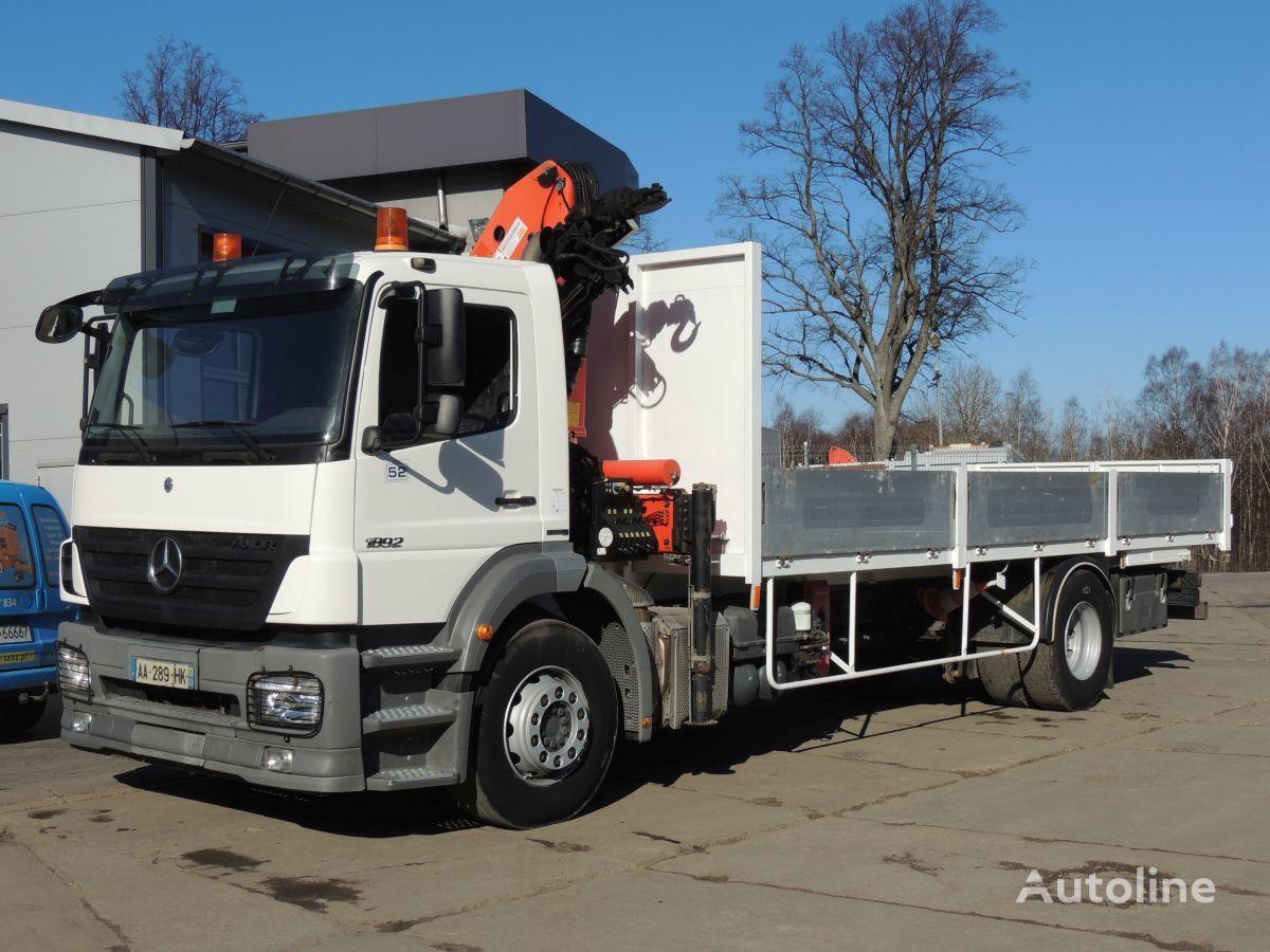 MERCEDES-BENZ AXOR 1829 , 2008rok , Euro 4 , 290KM , PALFINGER CRANE PK12000 flatbed truck