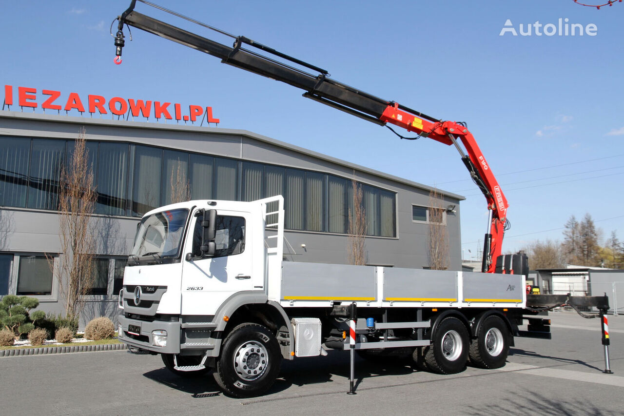 MERCEDES-BENZ AXOR 2633 HDS / CRANE flatbed truck