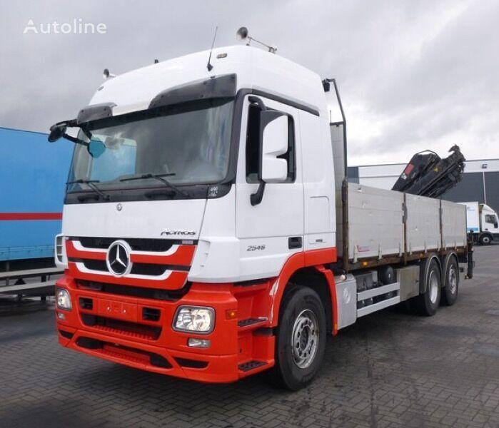 MERCEDES-BENZ Actros 2546 6x2 hiab 144-5  flatbed truck