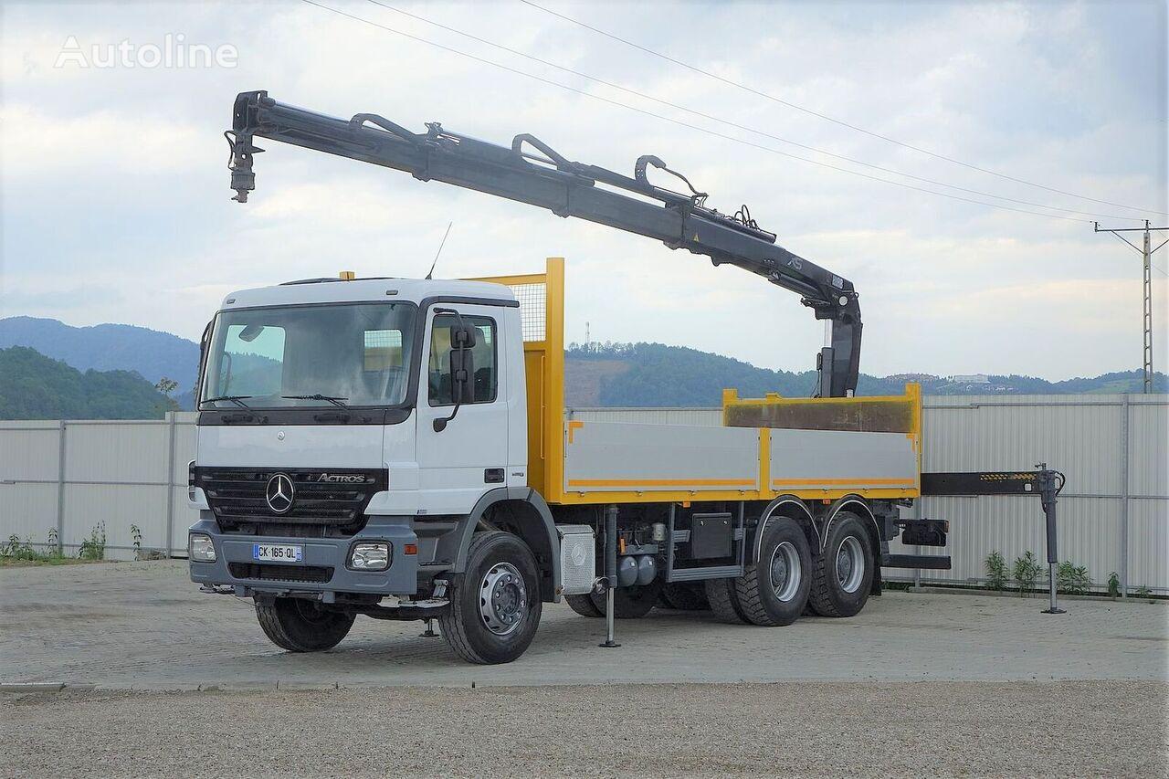MERCEDES-BENZ Actros 2641 Pritsche 6,60m+ Kran*6x4*  flatbed truck