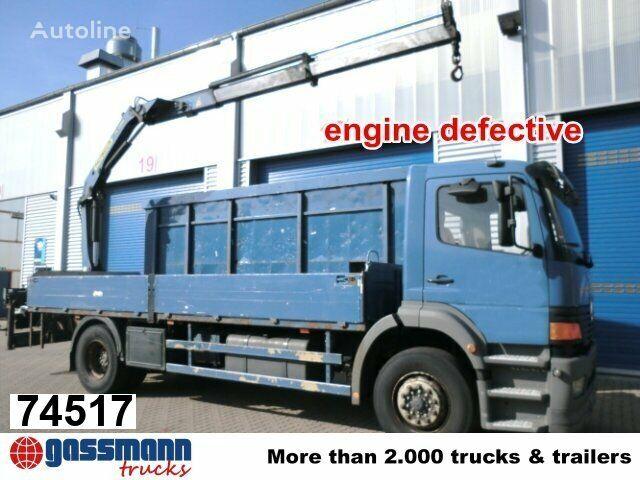 MERCEDES-BENZ Atego 1828 L mit Kran Palfinger PK11001 flatbed truck
