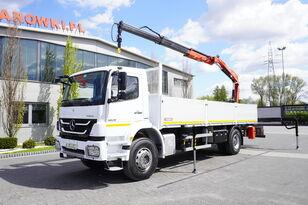 MERCEDES-BENZ Axor 1829 , E5 , 150k km , box 7m , FASSI 7,9m , REMOTE , rotato flatbed truck