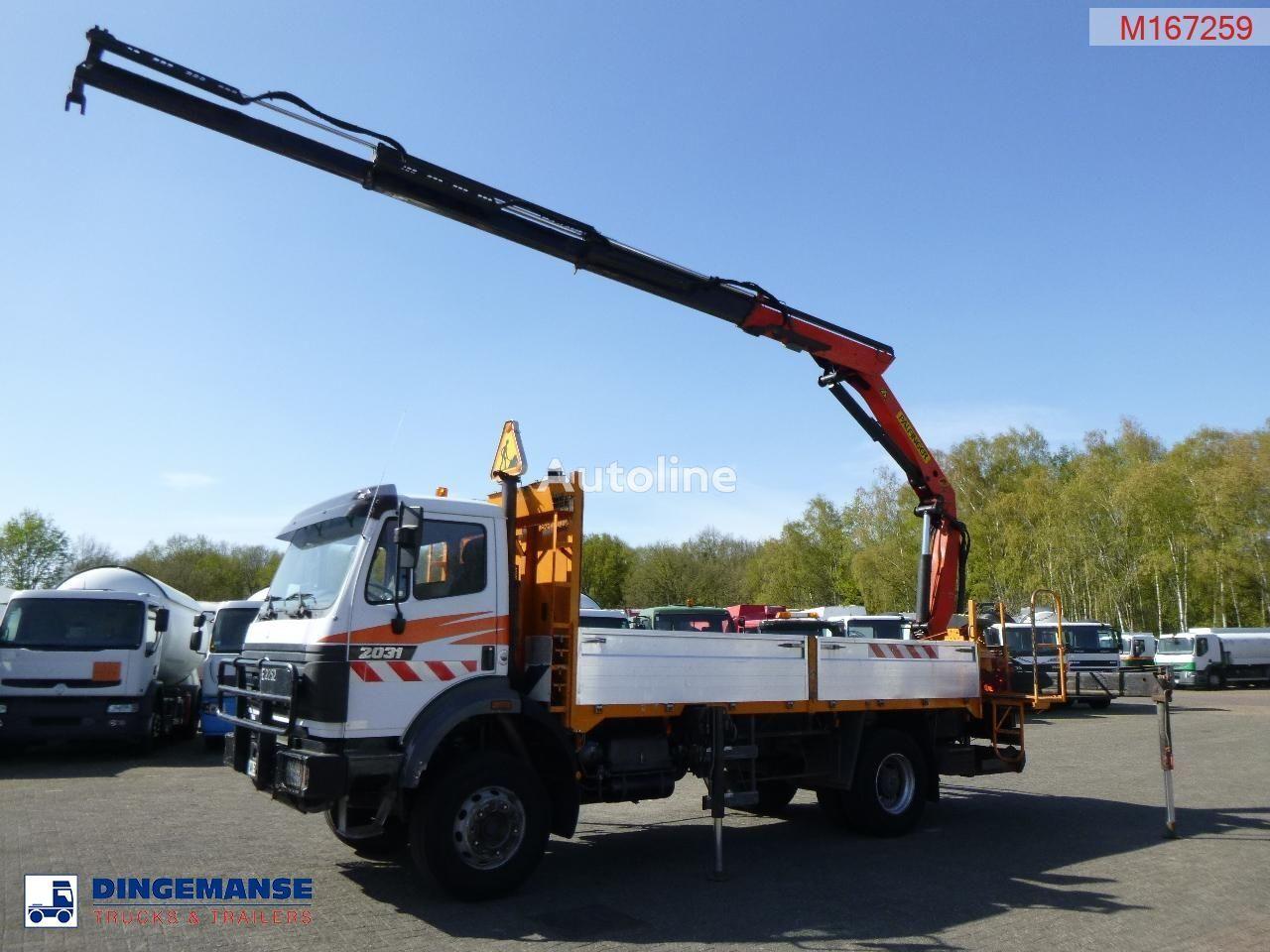 MERCEDES-BENZ SK 2031 4X2 + Palfinger PK13000 flatbed truck