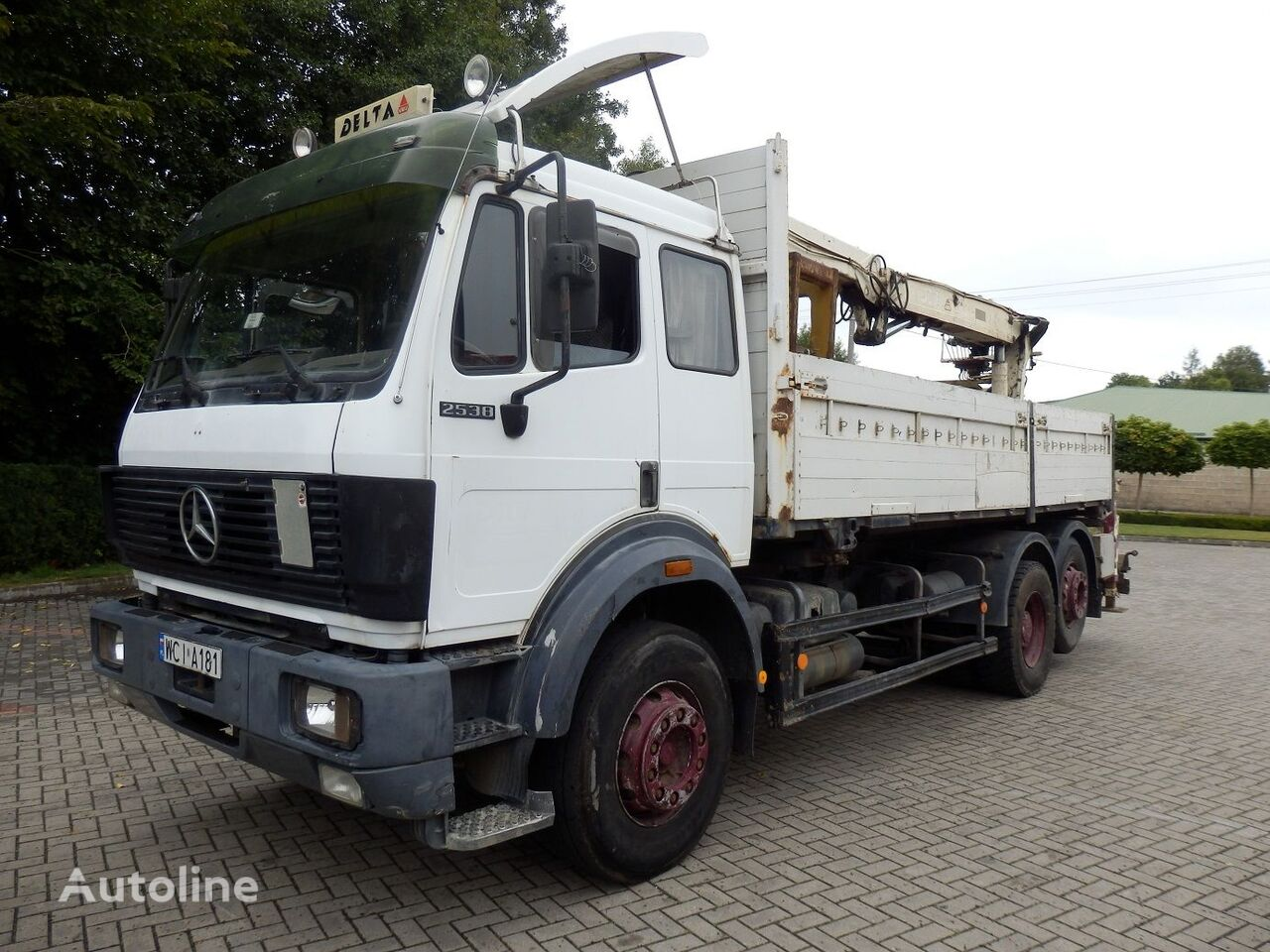 MERCEDES-BENZ SK 2538 6x2 Engine V8 13.t Axles  flatbed truck