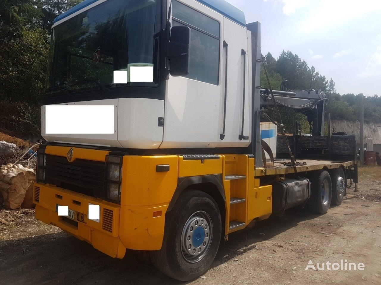 RENAULT AE  flatbed truck