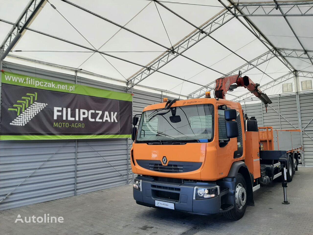 RENAULT Premium 370 flatbed truck