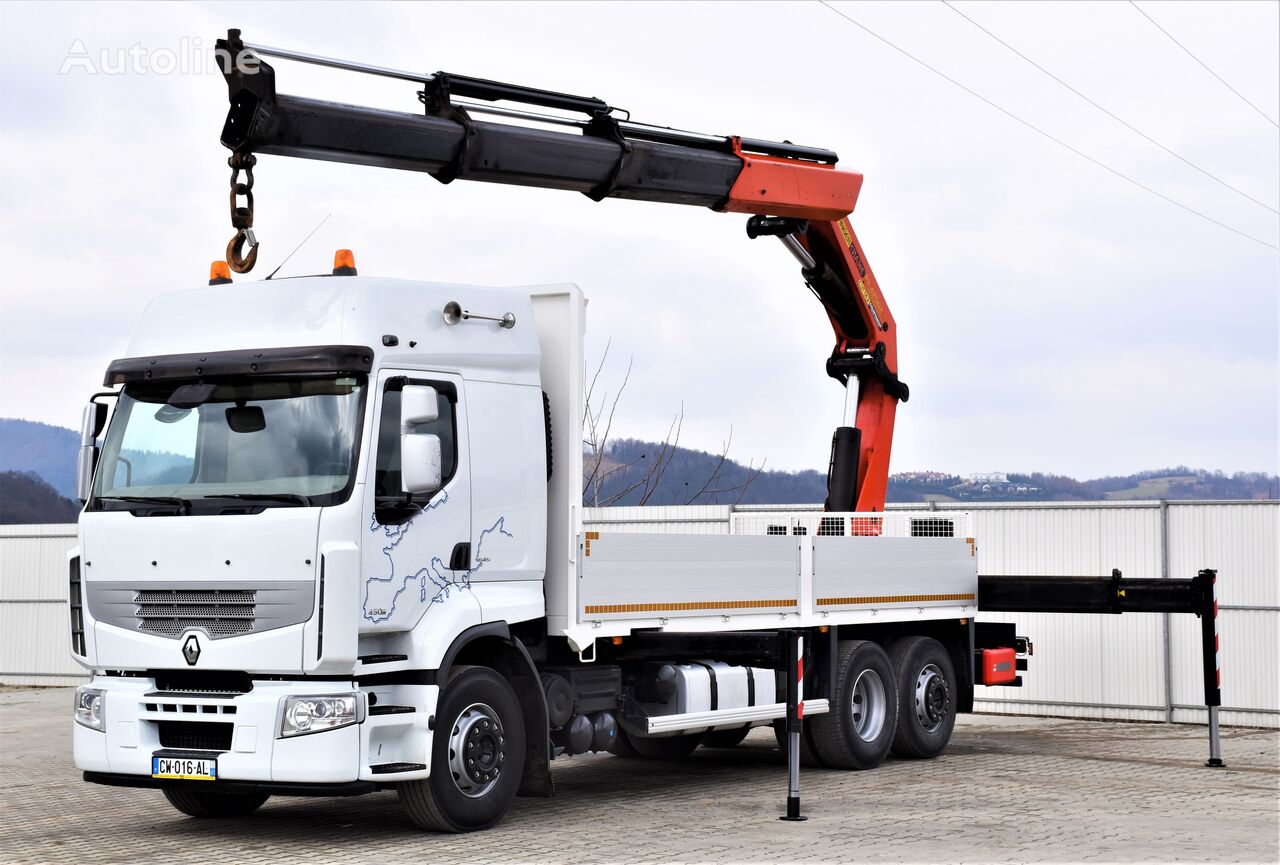 RENAULT Premium 450 DXI flatbed truck