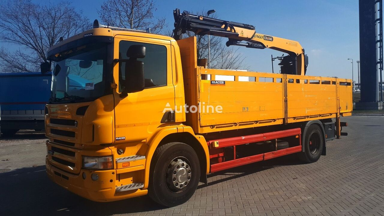 SCANIA P 320 / GERMAN BREIF flatbed truck