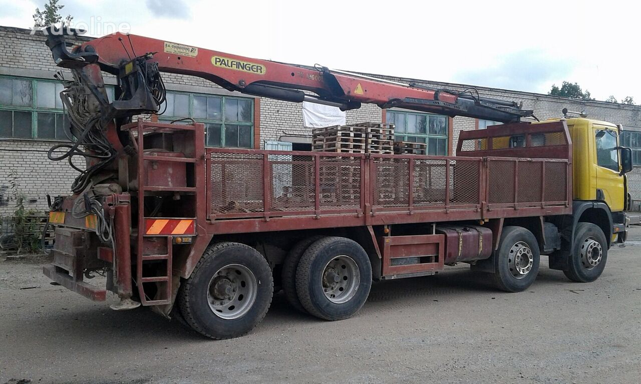 SCANIA P114 flatbed truck