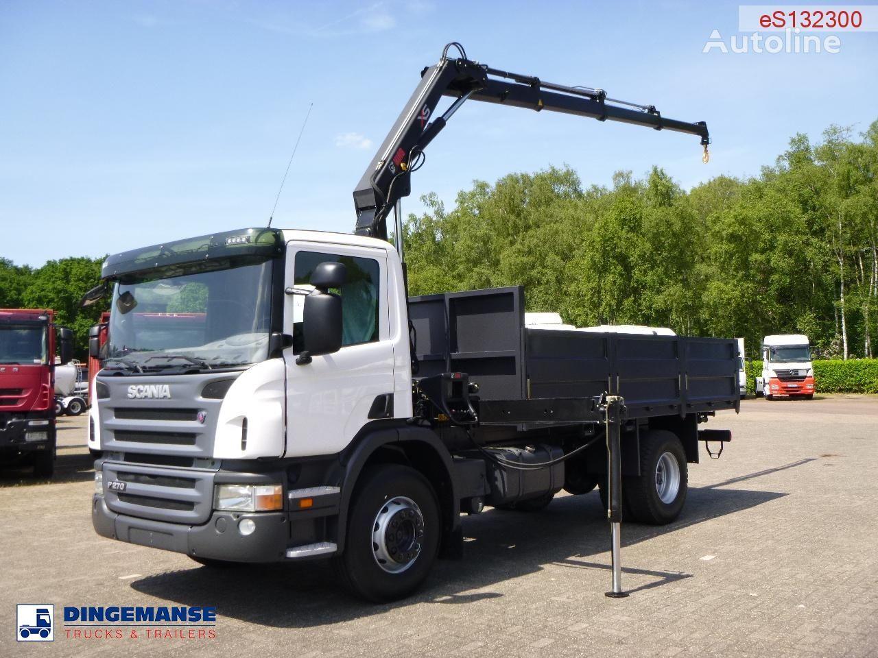 new SCANIA P270 LB 4X2 Hiab XS 099 B-3 Duo / NEW/UNUSED flatbed truck