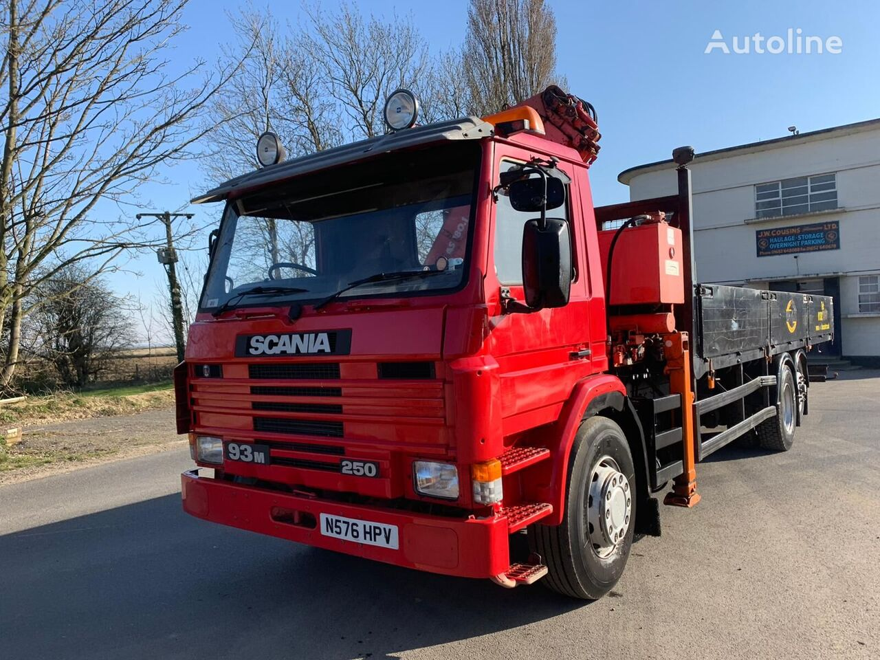 SCANIA P93 flatbed truck