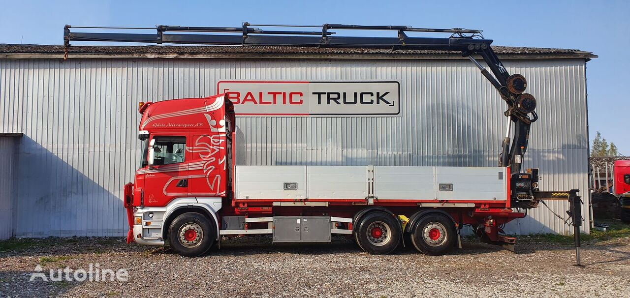 SCANIA R480  flatbed truck