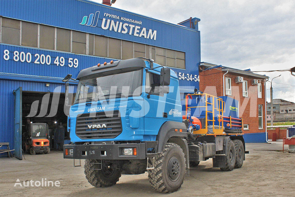new UNISTEAM CA plunzhernyy nasos SIN-35 URAL 4320 s VPB flatbed truck