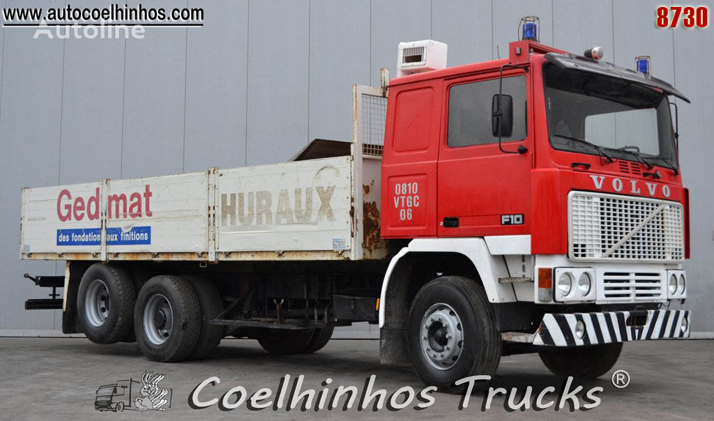 VOLVO F10 flatbed truck