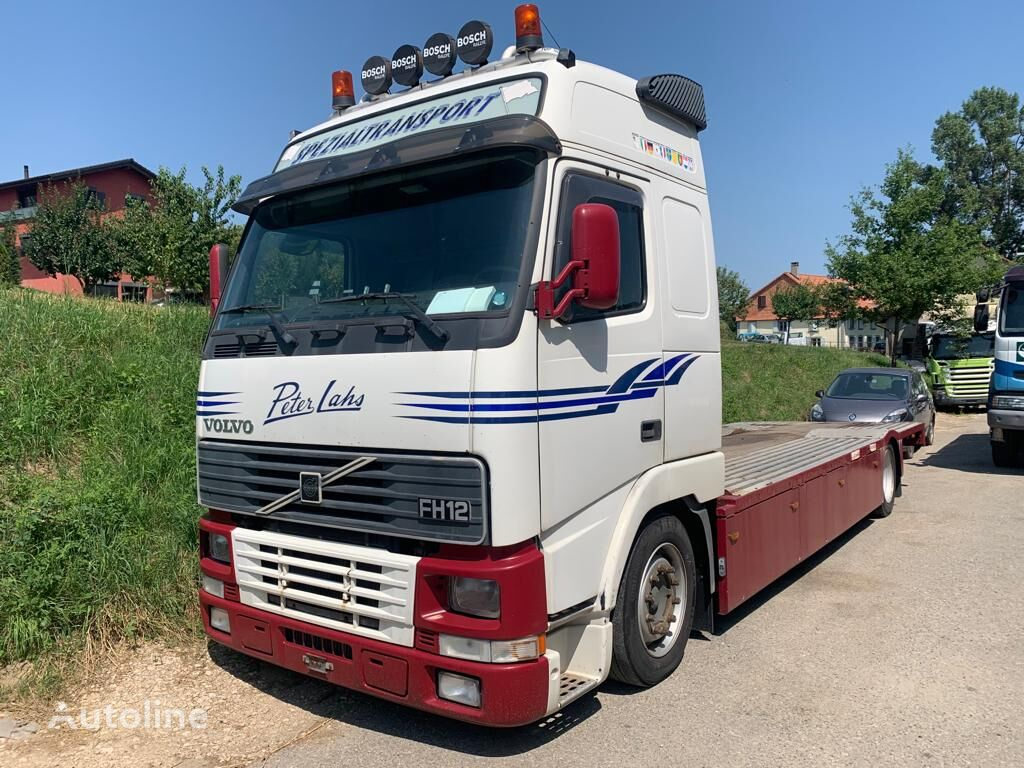 VOLVO FH12-380 flatbed truck