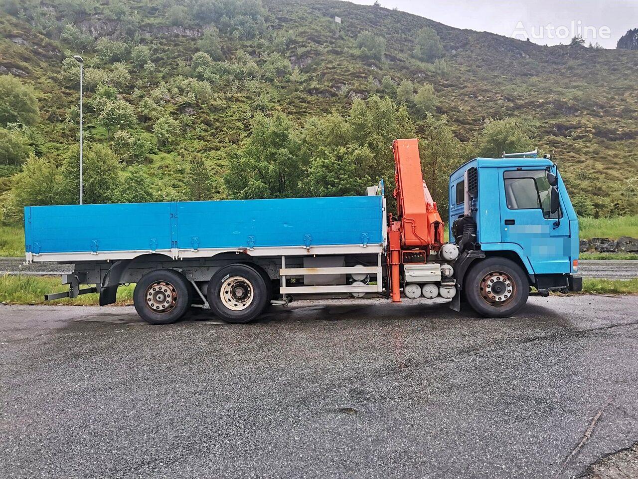 VOLVO FL 10 6x2 *Kran*Hiab 1770*Manual*New TUV flatbed truck