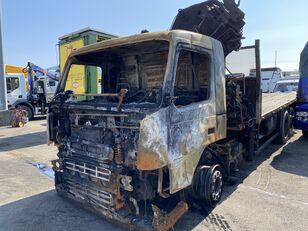 damaged VOLVO FM flatbed truck